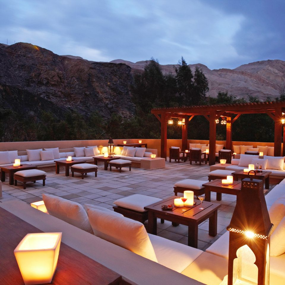 Desert Lounge Rooftop mountain sky Resort restaurant Villa