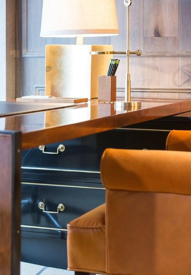 hardwood living room home desk leather