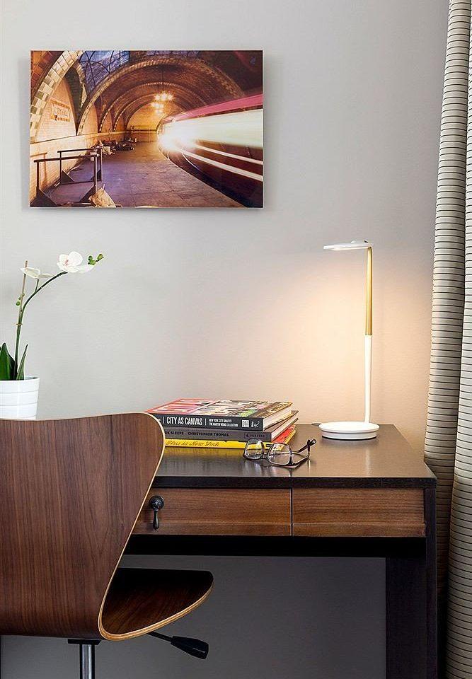 wooden modern art living room desk