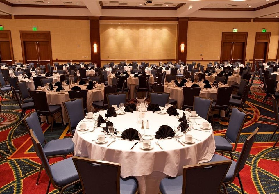 chair function hall banquet convention academic conference ceremony meeting audience event auditorium conference hall ballroom orchestra Dining full