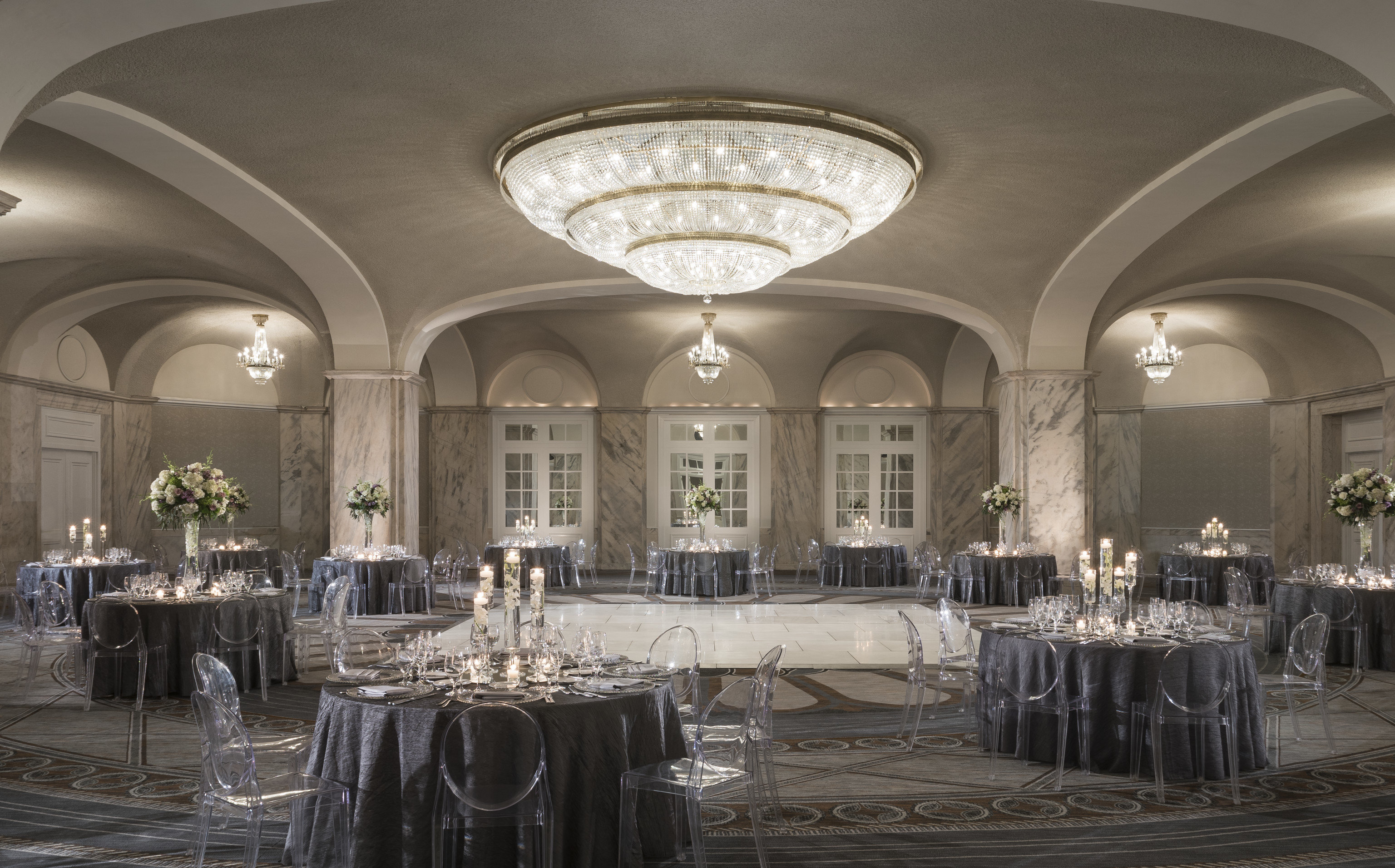 function hall ballroom aisle old ceremony arch wedding reception banquet chapel restaurant hall Dining centrepiece antique fancy set