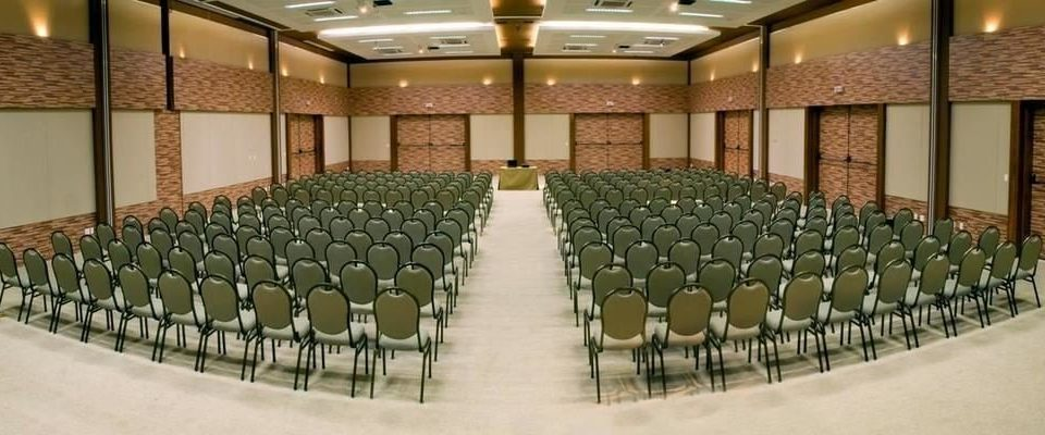 chair auditorium function hall conference hall convention center Dining ballroom aisle row lined empty line