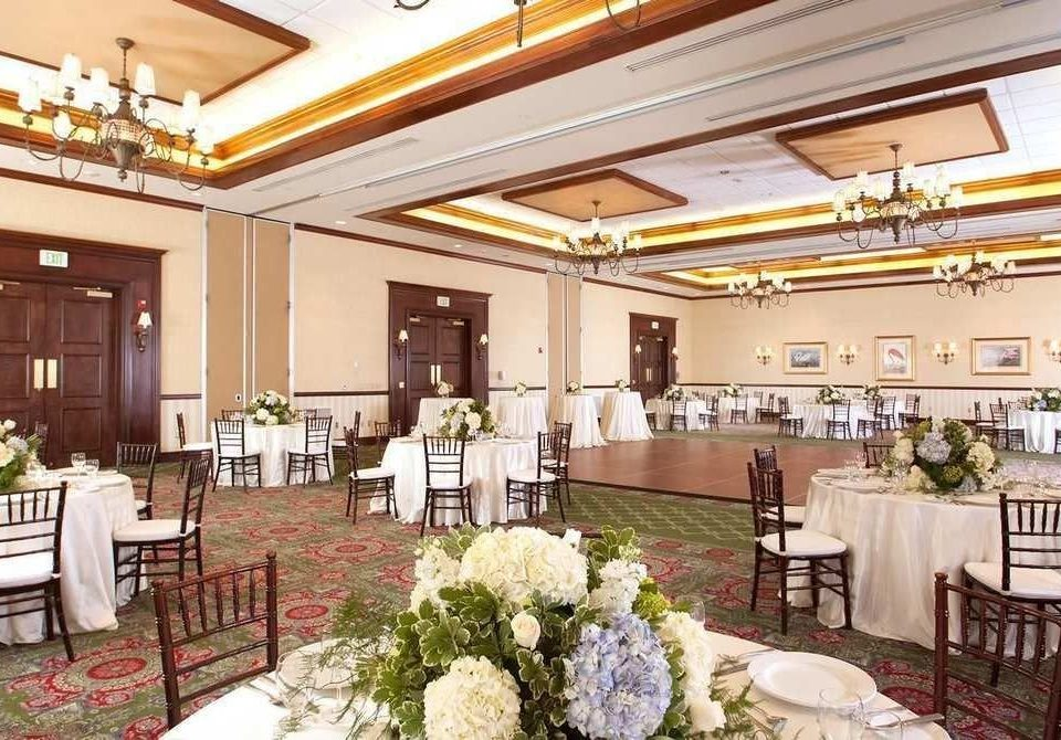 function hall chair aisle banquet Dining ballroom floristry