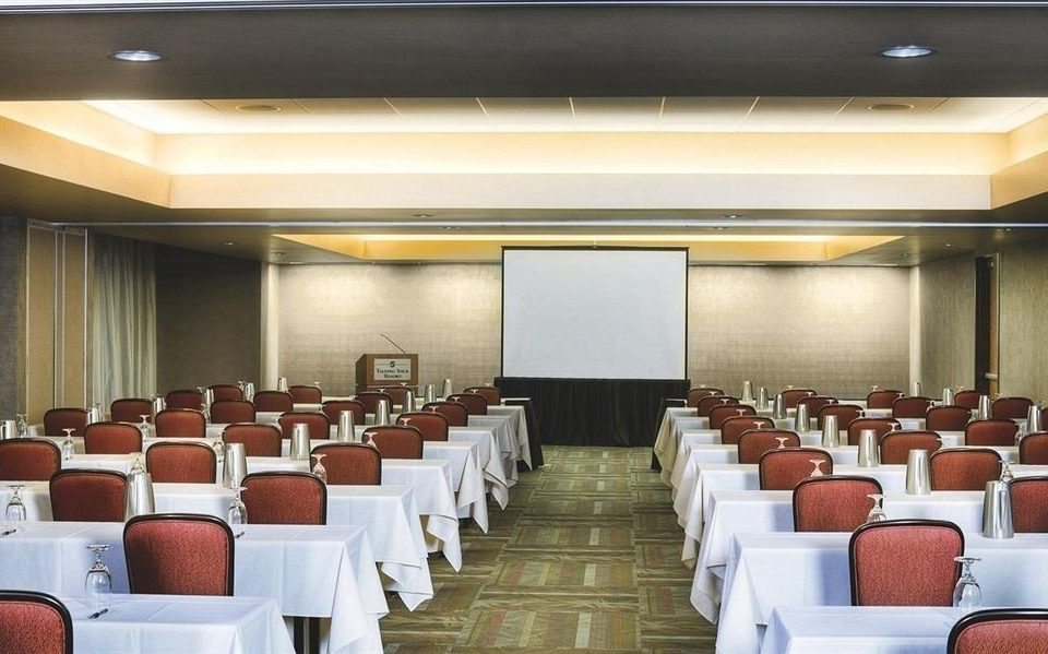 chair auditorium function hall conference hall meeting convention center Dining ballroom convention banquet line lined colored arranged conference room