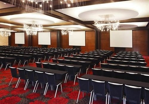 auditorium chair function hall conference hall banquet Dining convention center meeting ballroom lined