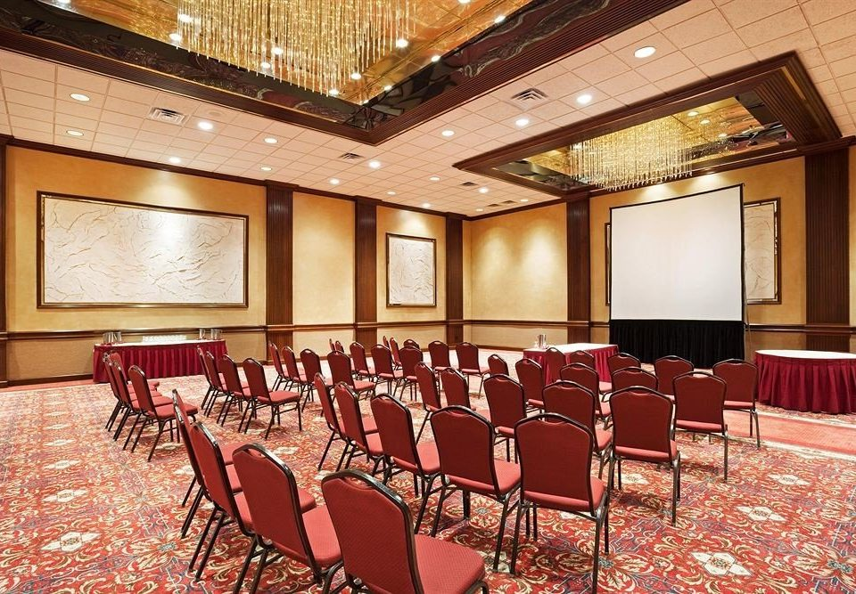 chair function hall conference hall auditorium Dining red convention center ballroom meeting theatre banquet conference room