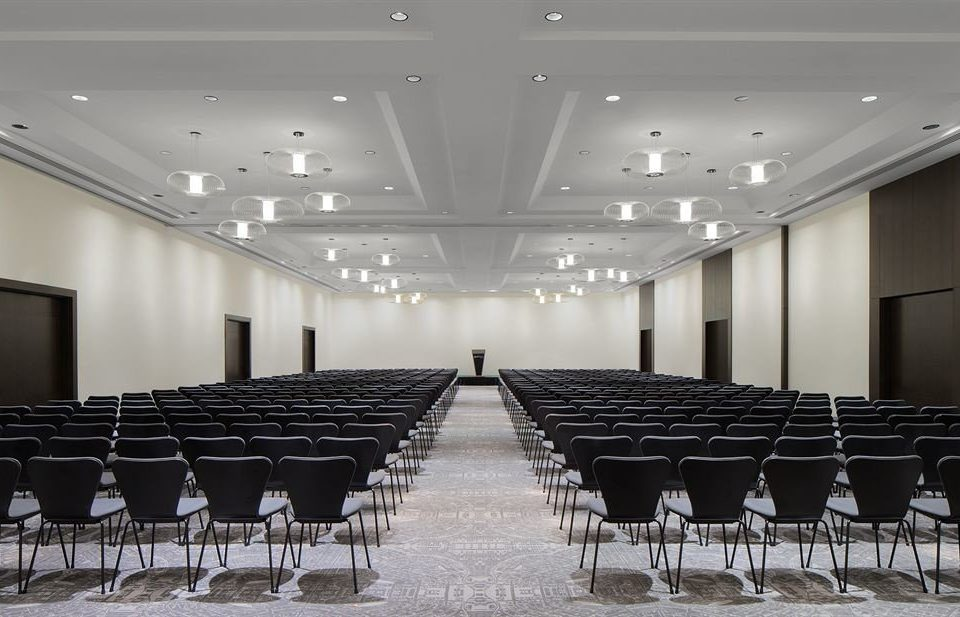 chair auditorium conference hall building function hall row convention center ballroom hall lined Dining line meeting empty set