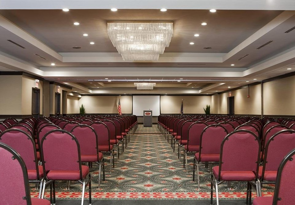 chair auditorium conference hall function hall Dining building convention center ballroom meeting empty surrounded