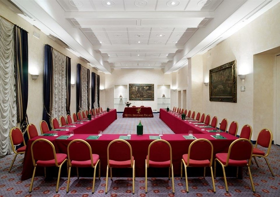 chair red conference hall function hall Dining auditorium convention center ballroom meeting set conference room