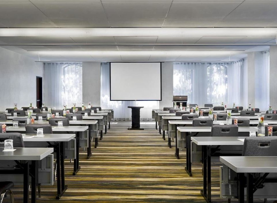 chair auditorium conference hall classroom function hall convention center meeting Dining cafeteria