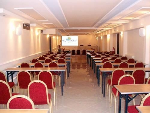 chair Dining conference hall function hall auditorium red convention center meeting classroom
