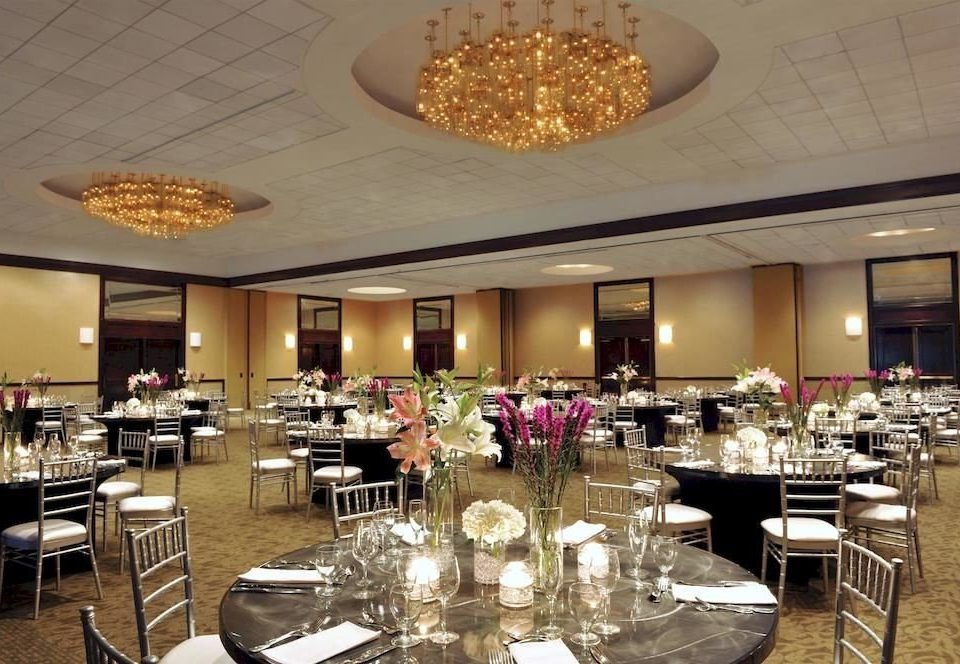 chair function hall Dining plate restaurant ballroom banquet convention center buffet conference hall set dining table