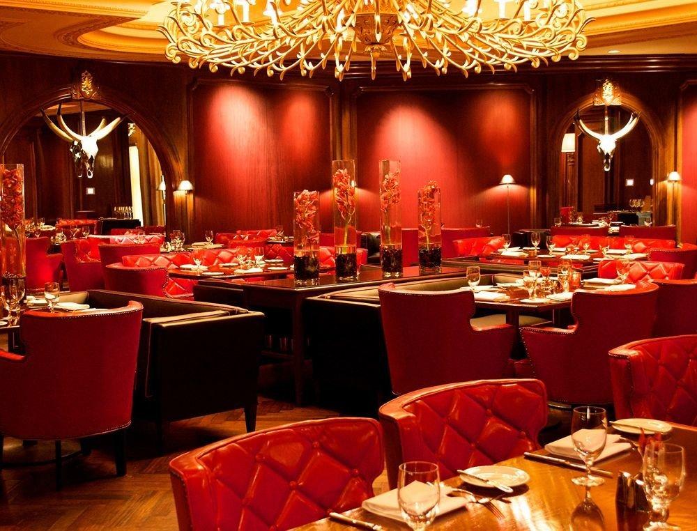 function hall restaurant banquet Dining red set ballroom buffet wedding reception dining table