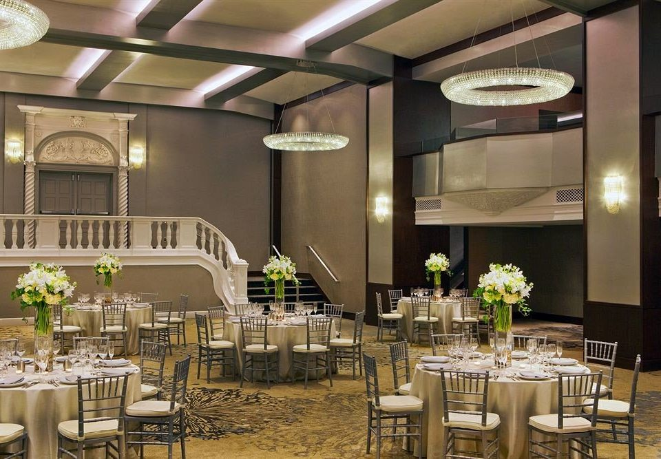 function hall chair Dining banquet ballroom conference hall restaurant convention center wedding wedding reception buffet surrounded dining table