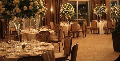 chair Dining function hall restaurant banquet wedding reception ballroom centrepiece set dining table
