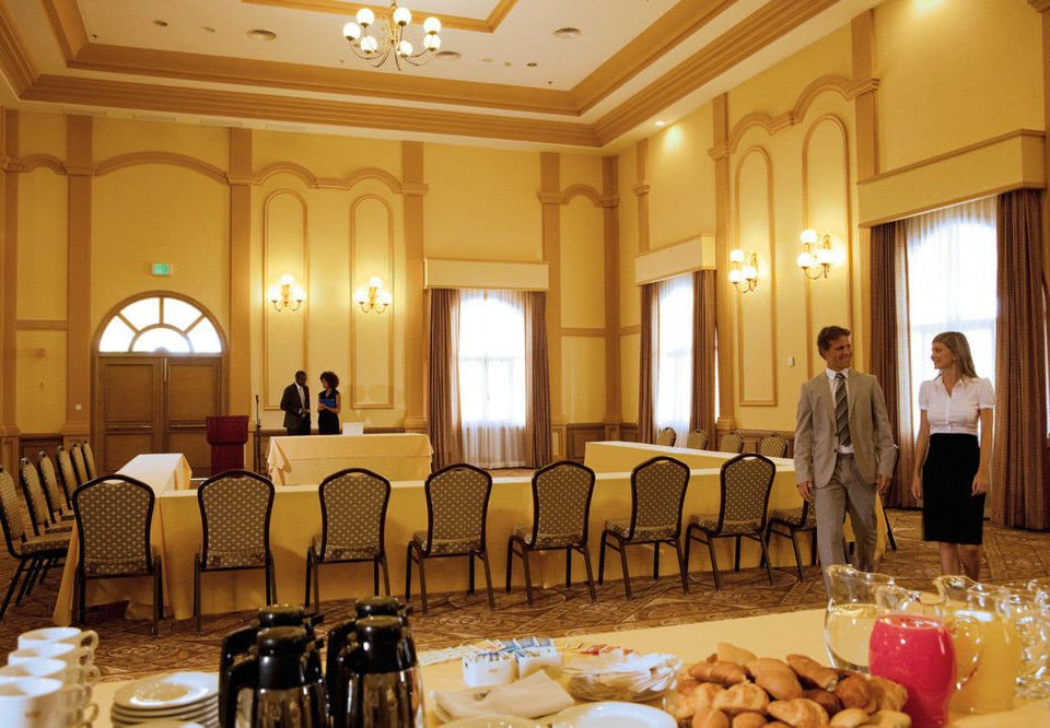 function hall banquet wedding ceremony ballroom Dining conference hall restaurant palace wedding reception set dining table