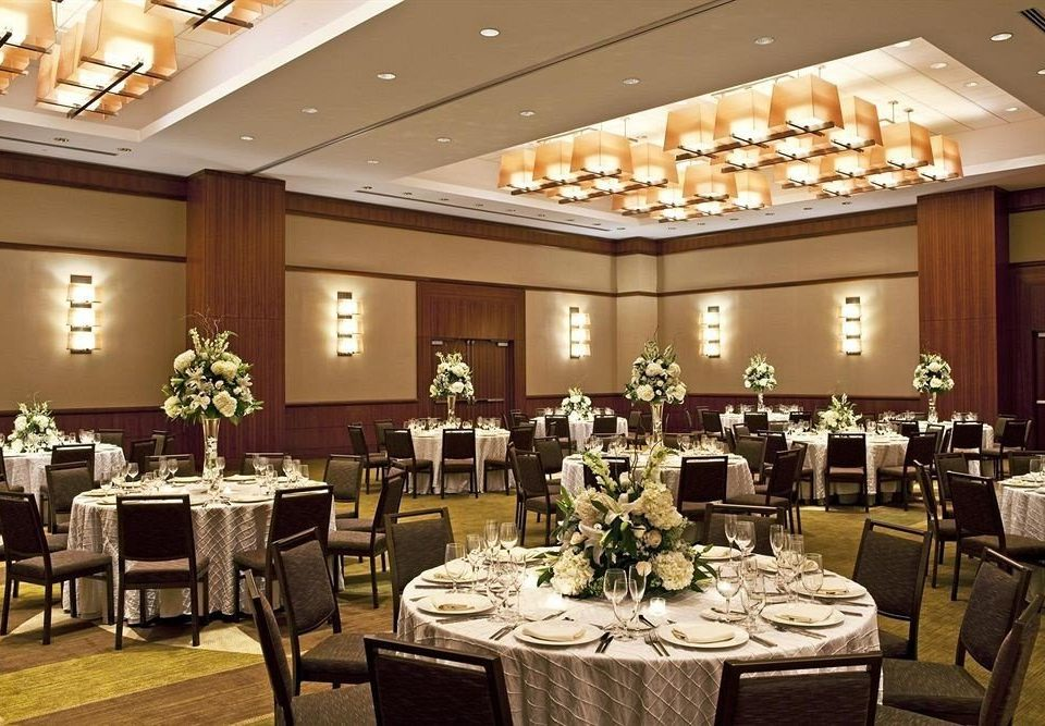 chair function hall banquet conference hall ballroom Dining restaurant ceremony convention center wedding reception set