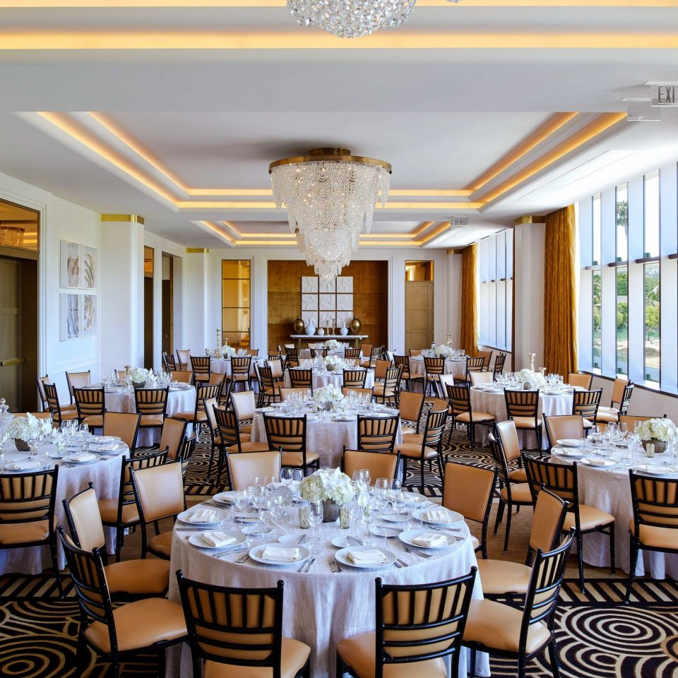chair Dining function hall restaurant banquet ballroom ceremony set fancy surrounded dining table