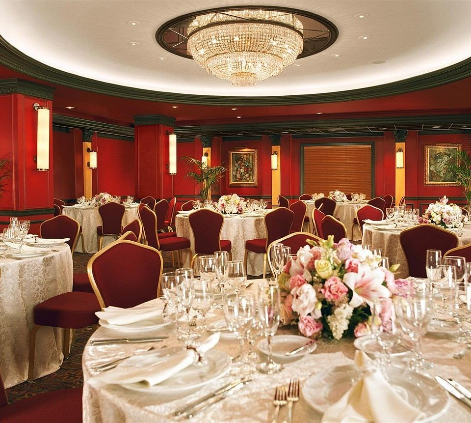 function hall Dining banquet restaurant wedding red ceremony ballroom wedding reception fancy dining table