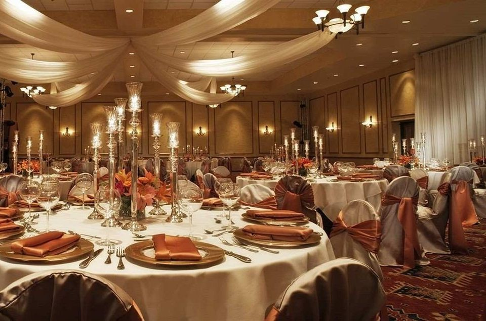 function hall banquet ballroom wedding ceremony Dining wedding reception conference hall convention center set dinner