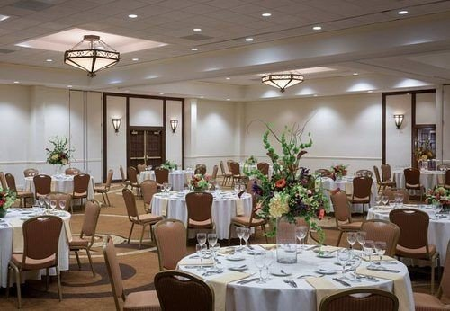 chair function hall Dining restaurant banquet conference hall ballroom convention center set dining table