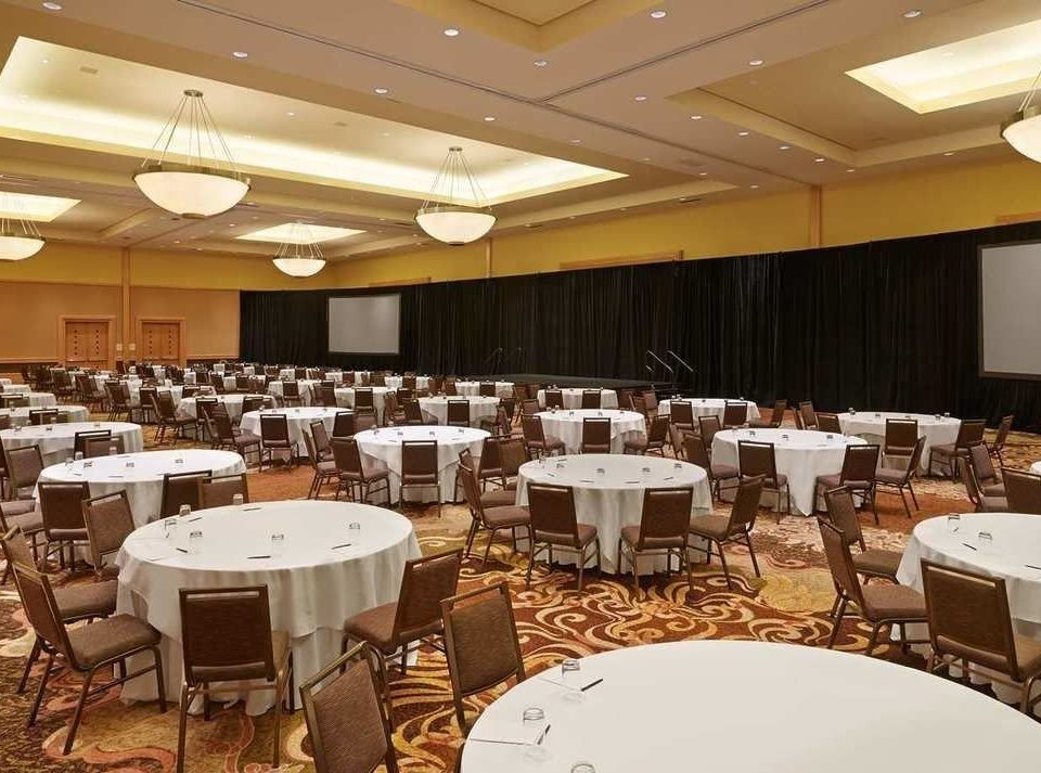 chair function hall banquet conference hall restaurant Dining ballroom convention center meeting set conference room