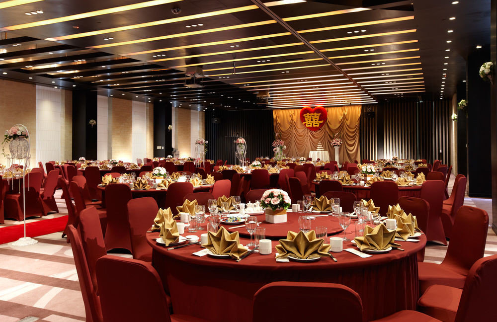 chair function hall Dining banquet red conference hall restaurant ballroom convention center convention