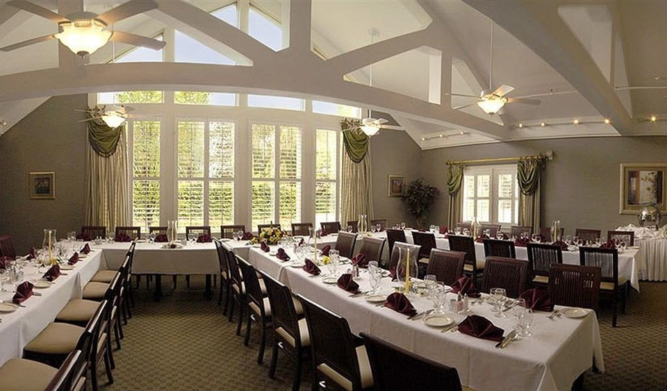 chair function hall restaurant conference hall scene Dining ballroom convention center banquet long row lined
