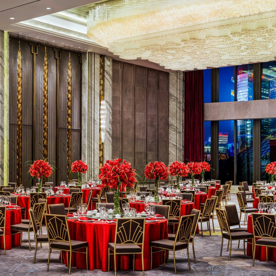 function hall chair restaurant red ballroom Dining banquet