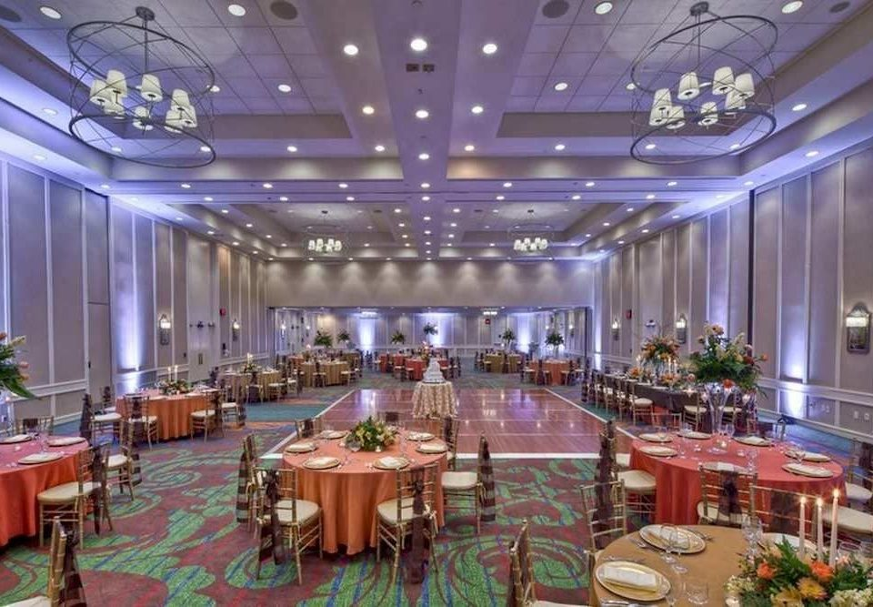 function hall Dining banquet conference hall ballroom convention center set