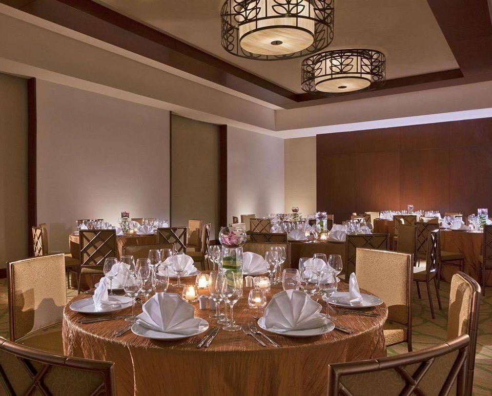 function hall restaurant Dining ballroom banquet fancy set dining table