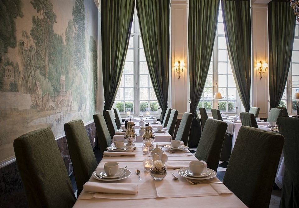 chair Dining function hall restaurant curtain ballroom textile set