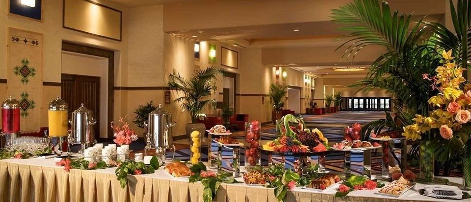 floristry flower arranging buffet Dining banquet function hall floral design restaurant brunch set fancy dining table