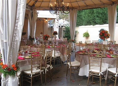chair curtain restaurant function hall floristry banquet Dining set