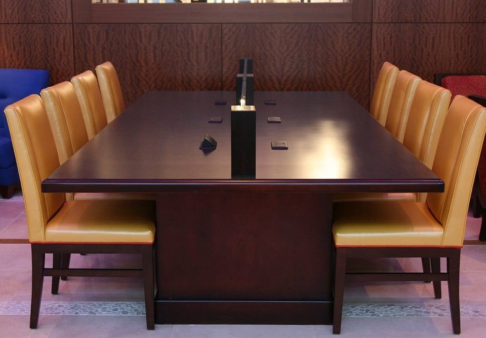 chair Dining wooden billiard room recreation room conference hall dining table leather conference room