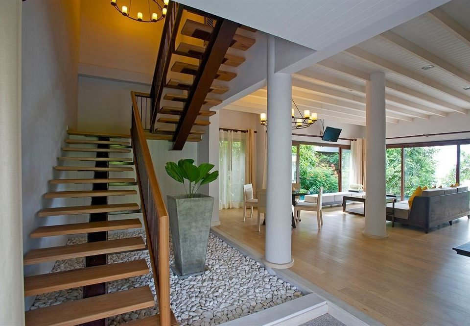 property building hardwood home living room Dining stairs wood flooring daylighting condominium