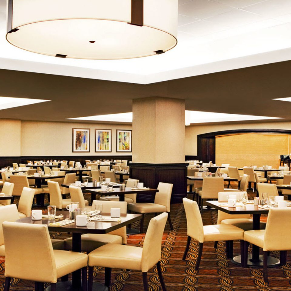chair restaurant function hall conference hall cafeteria café convention center Dining