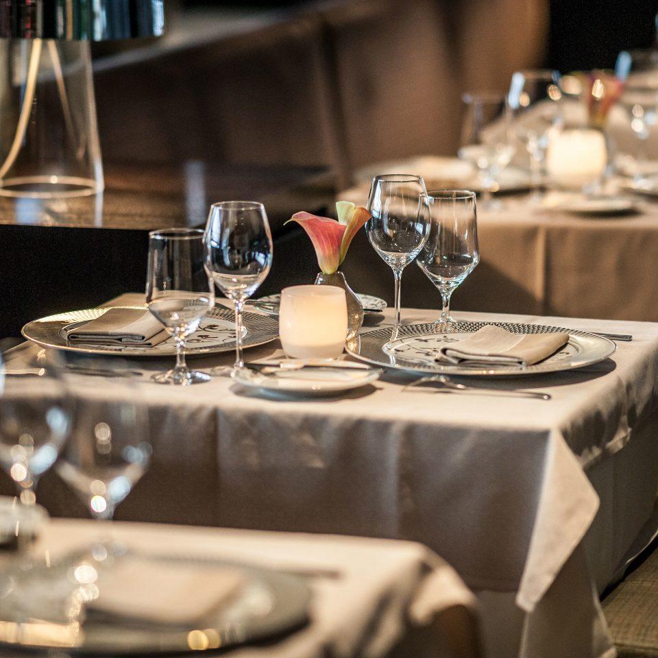 glasses wine restaurant Dining dinner lighting rehearsal dinner empty centrepiece set dining table silver