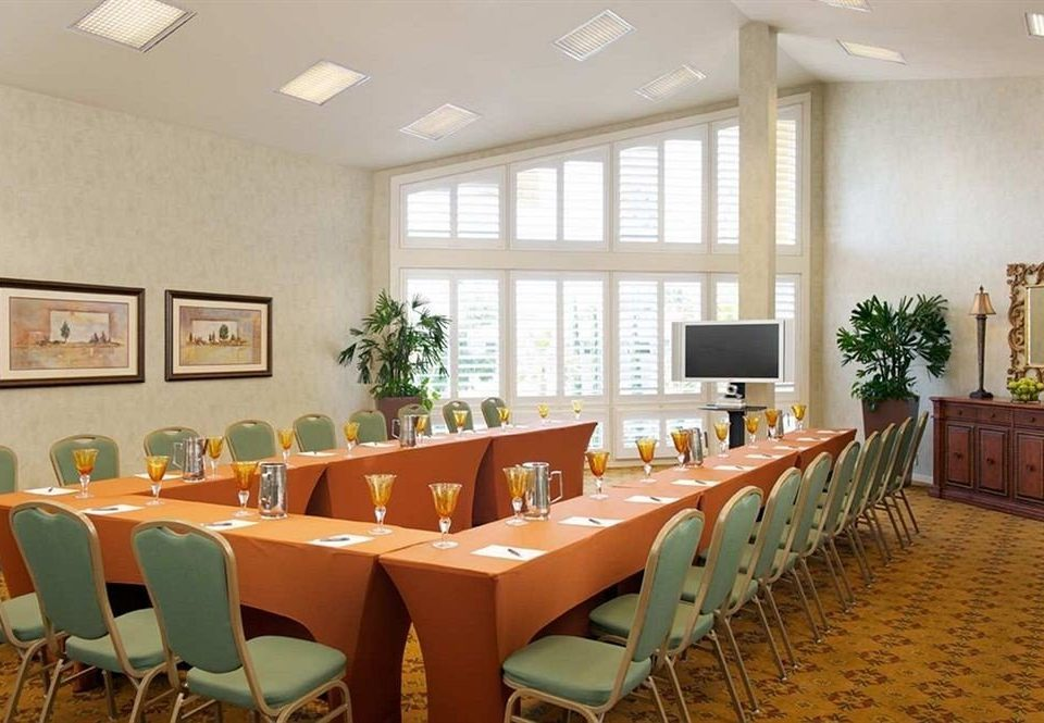 chair Dining conference hall function hall restaurant convention center meeting orange conference room