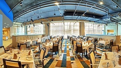 chair Dining scene function hall convention center restaurant