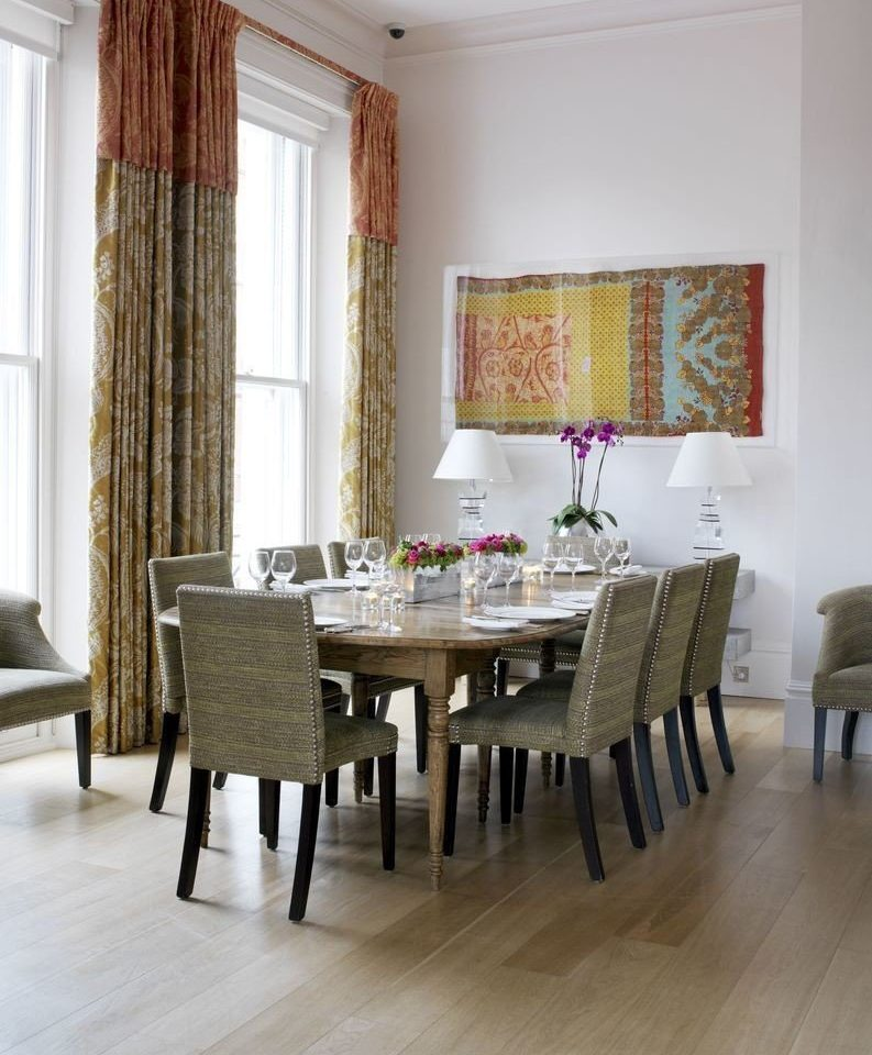 chair property hardwood home curtain living room flooring Dining window treatment textile wood flooring dining table