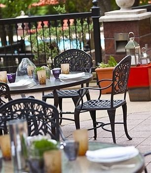 chair Dining restaurant outdoor structure dining table set