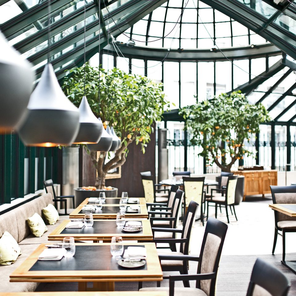 chair Dining restaurant orangery outdoor structure