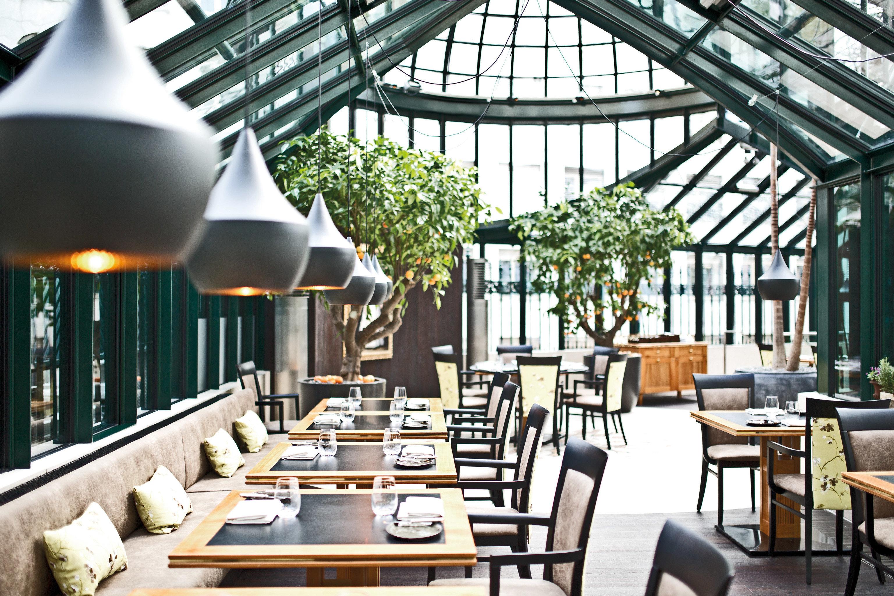 chair Dining restaurant orangery outdoor structure