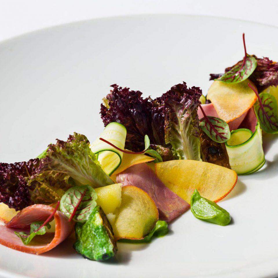 Dining Drink Eat plate food salad white vegetable hors d oeuvre cuisine fruit flowering plant arranged containing fresh piece de resistance