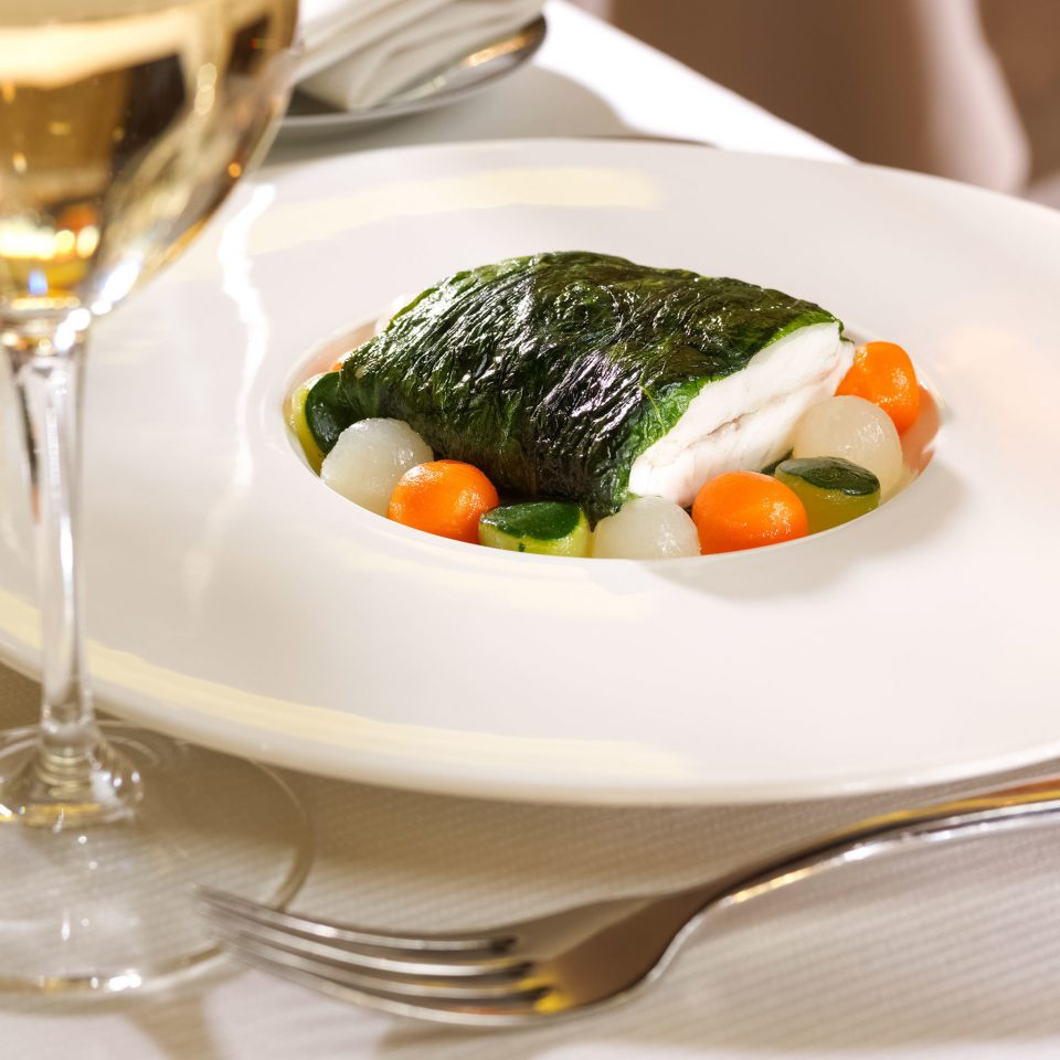 Dining Drink Eat plate food wine cuisine restaurant hors d oeuvre vegetable fish asian food