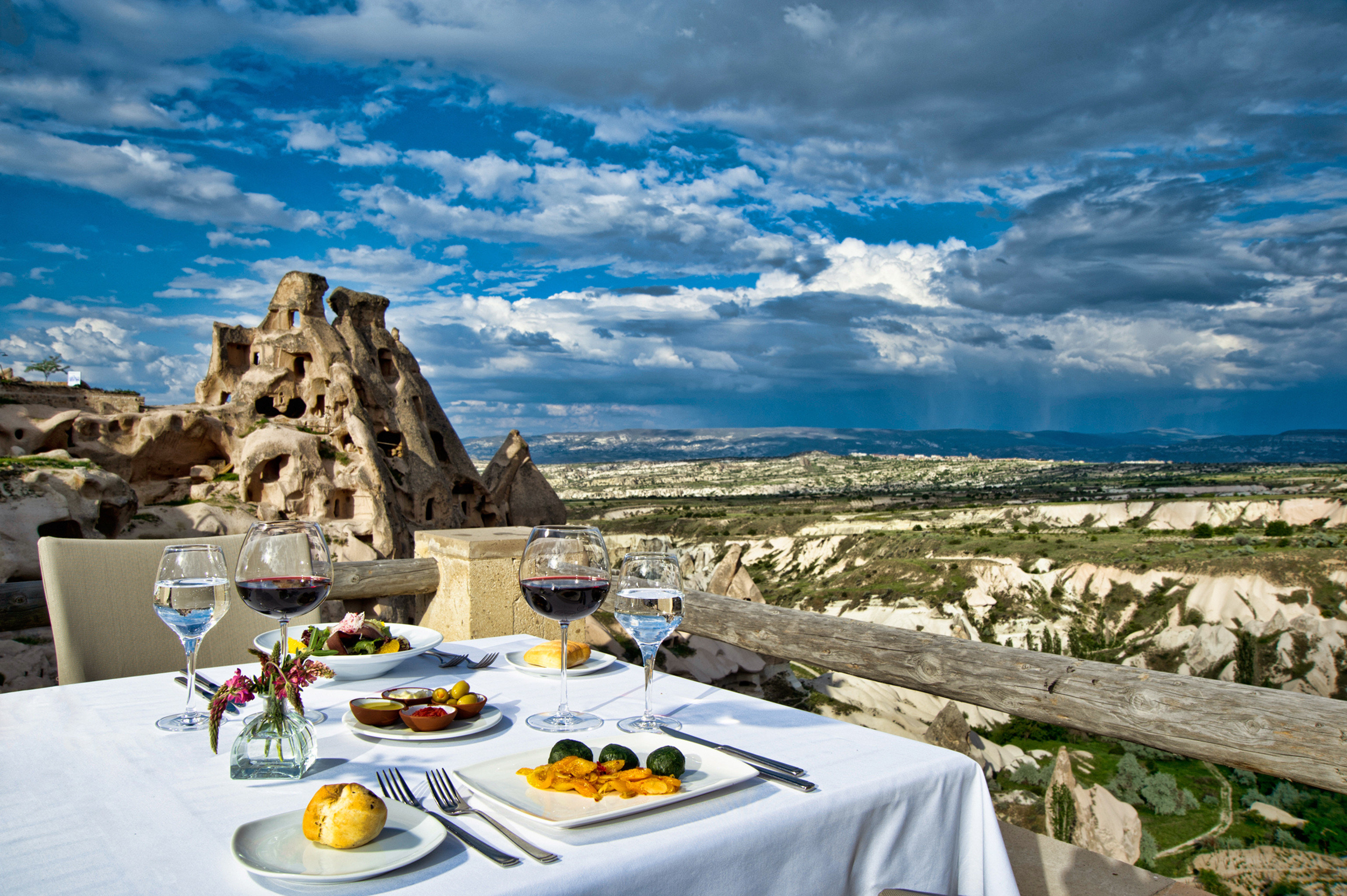 Dining Drink Eat Eco Luxury Mountains Outdoors Resort Scenic views sky Sea