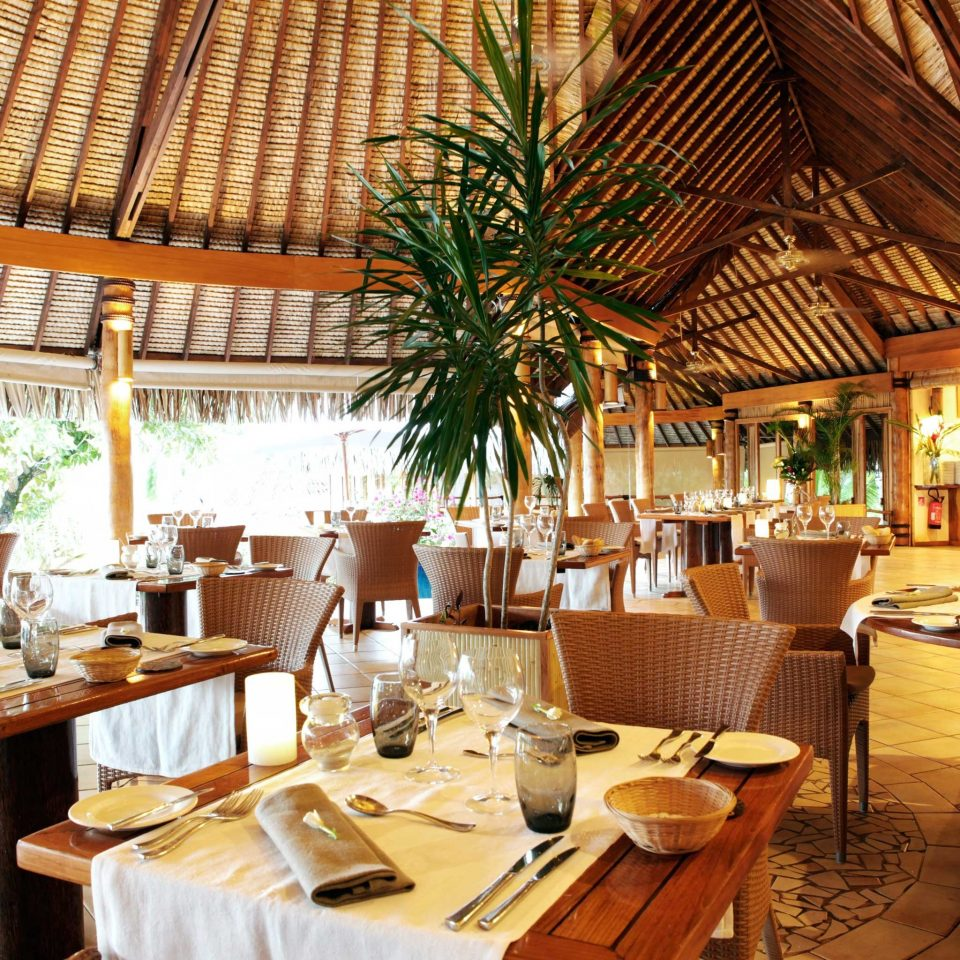 Dining Drink Eat Eco Family Island Scenic views chair restaurant Resort function hall