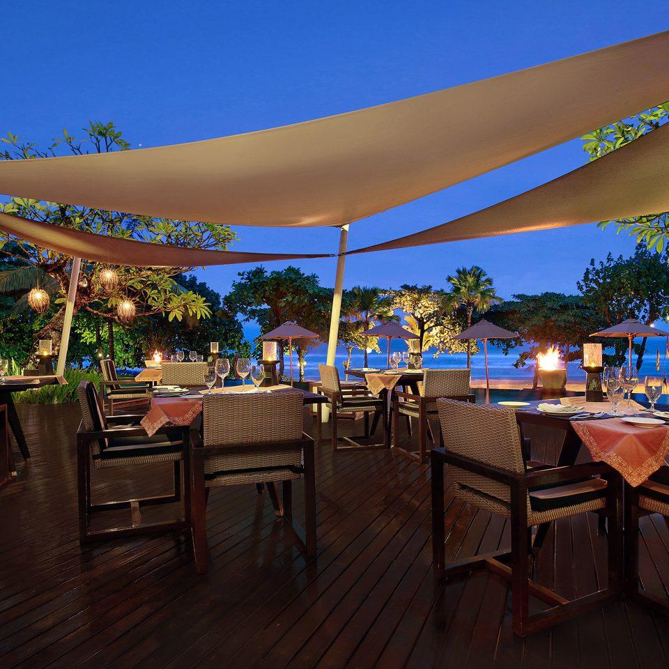 Dining Drink Eat Elegant Luxury Modern tree umbrella chair Resort restaurant set
