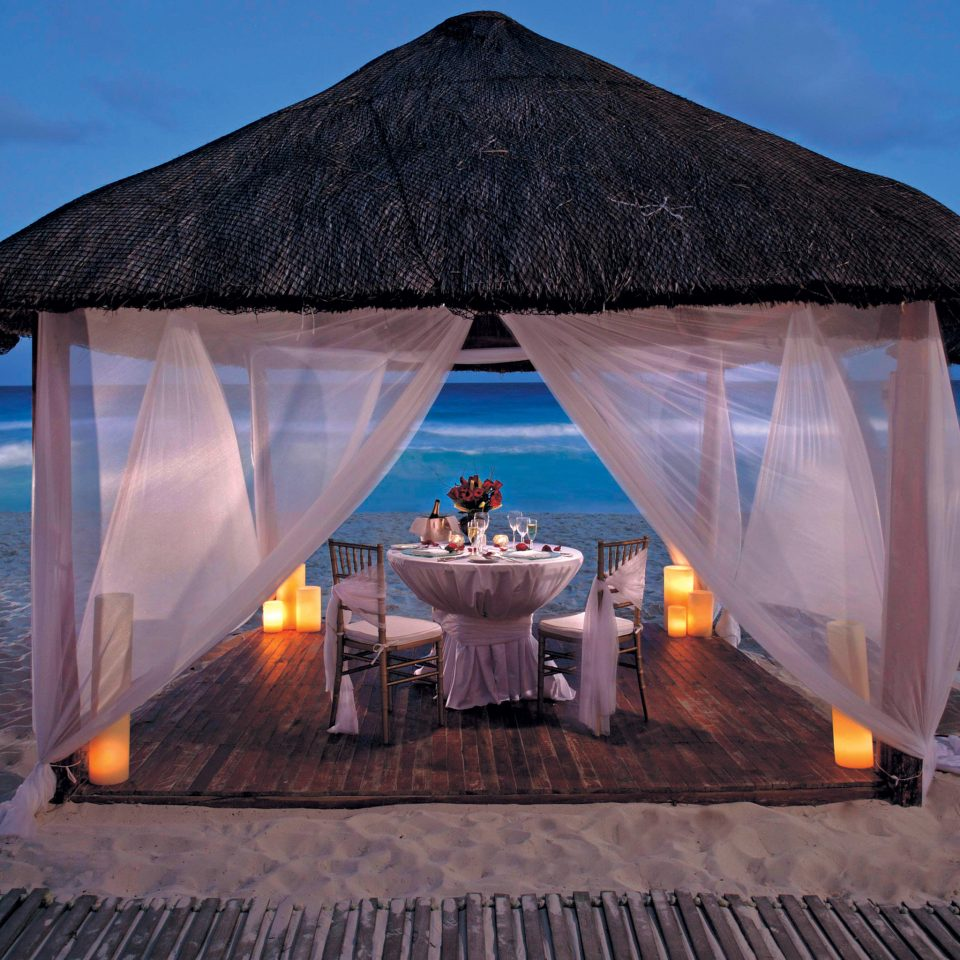 Dining Drink Eat Elegant Honeymoon Luxury Romance Romantic Tropical Waterfront sky tent stage
